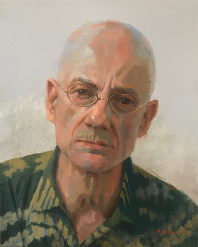 James Ellroy painting by Mike Hanlon